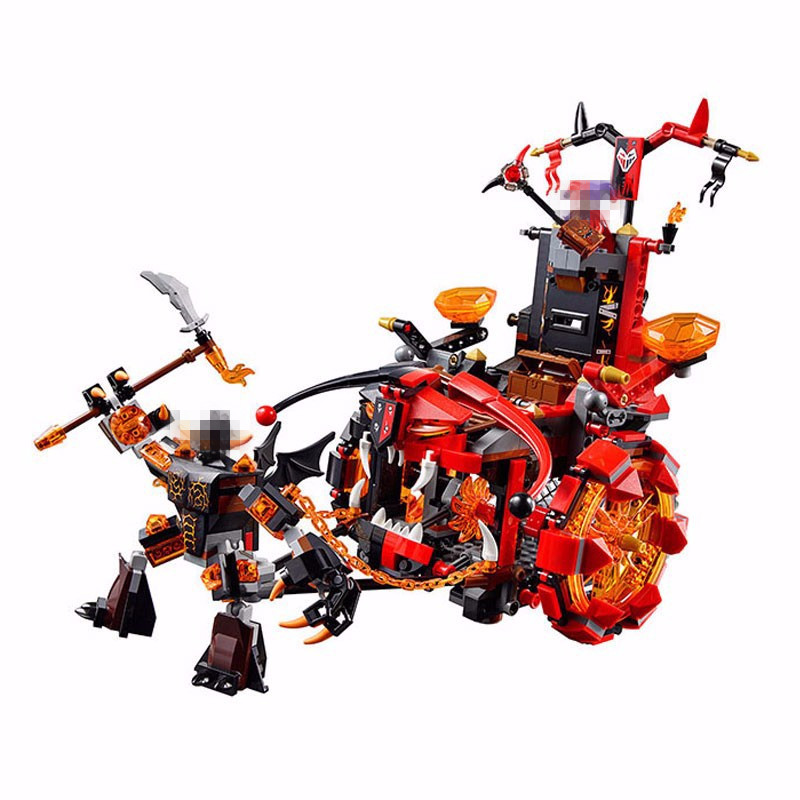 LEPIN 14005 The Knights Jestro's Evil Mobile Combination Marvel Building Blocks Kits Toys Compatible Nexus Gifts