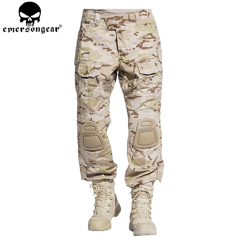 EMERSONGEAR Combat Pants Tactical Hunting Pants Military Army Camouflage Trousers Multicam Arid EM7042 fishing hunting camo hidden tactical pants trousers biomimicry jungle amouflage pants leaves wearable durable camouflage pants