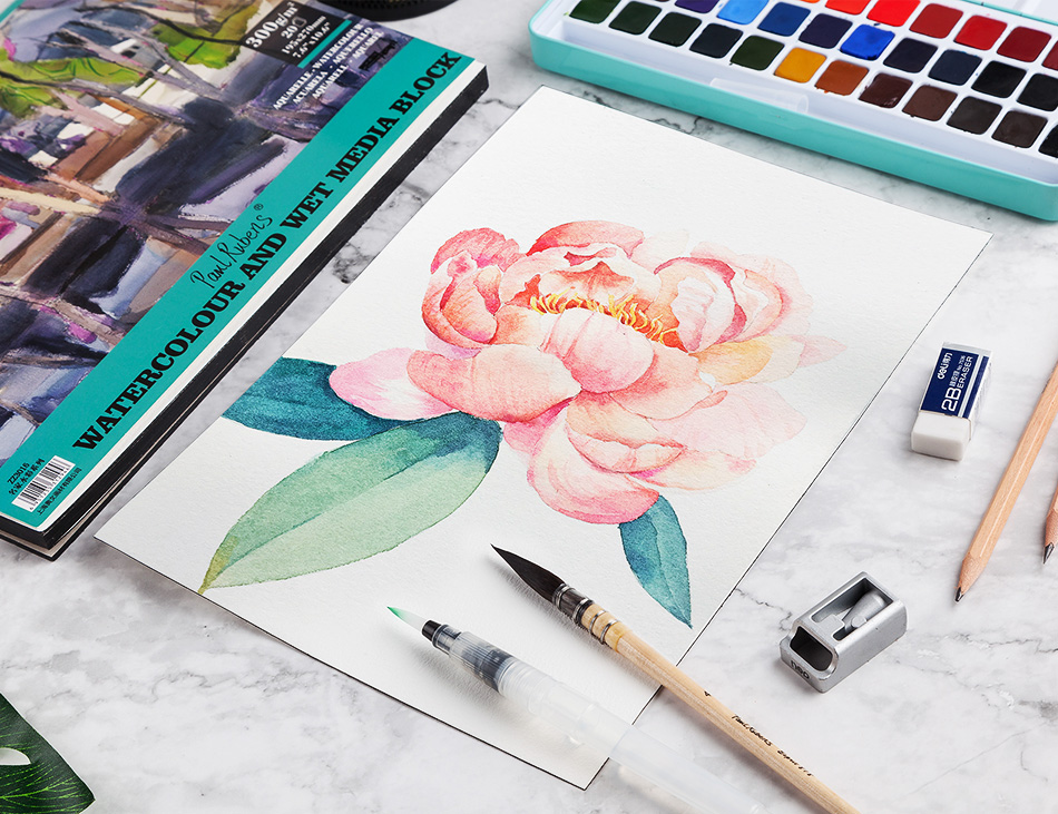 Paul Rubens 300GSM Watercolor Paper Pad Artist Quality Acid Free 100%  Cotton Paper for Watercolors and Wet Media Block 20 Sheets|Painting Paper|  - AliExpress