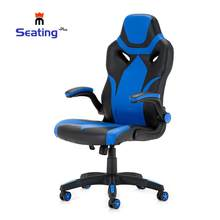 Seatingplus Racing Esports Chair LOL Game Chair Blue and white comfortable cushion chair with armrests(China)