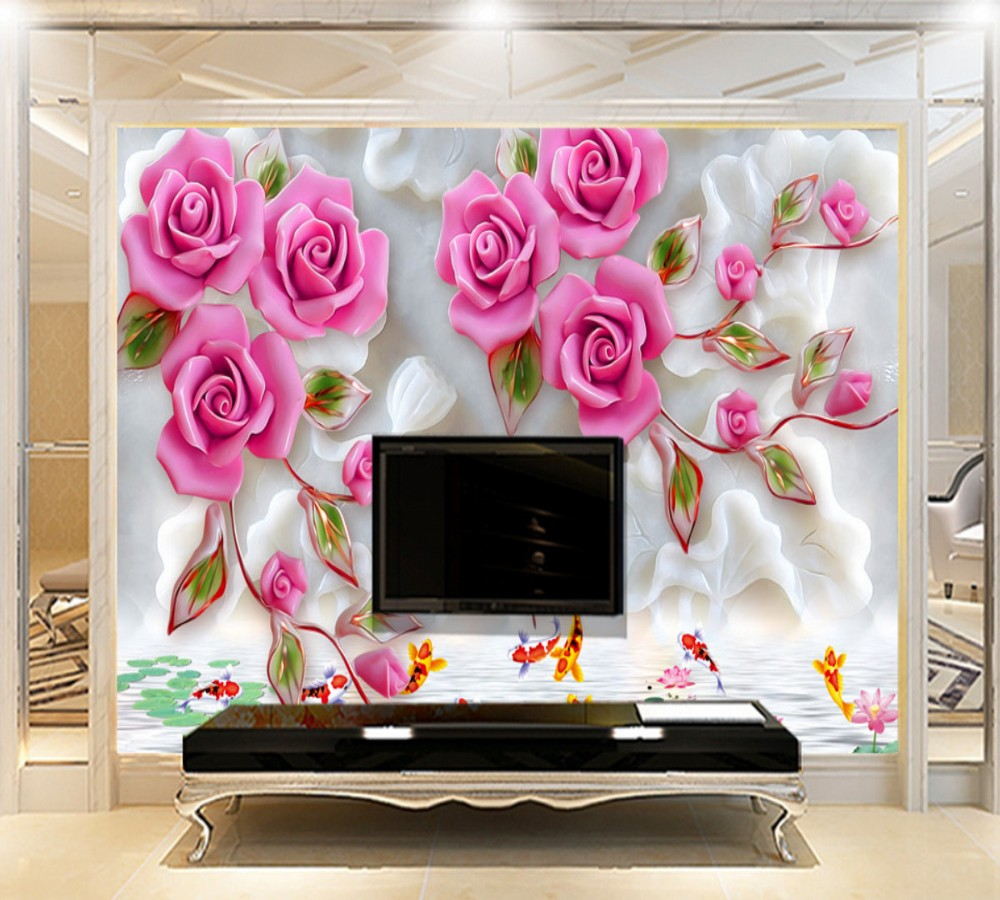 Free Shipping Modern Aesthetic Background Wall Luxury Flower Girl Bedroom 3D Custom Wallpaper Wedding Room Mural In Wallpapers From Home