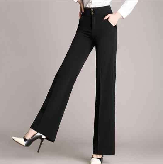パラッツォパンツ女性の ol オフィスパンツ 2019 ズボン、黒パンツ 4xl プラスサイズのカプリパンツ女性のためのファム ete Z928