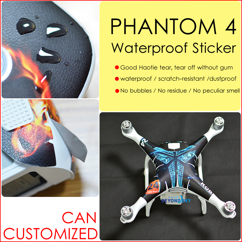 DJI phantom 4 Sticker PVC Decal Sticker Aerial aircraft stickers fuselage waterproof scratch battery remote sticker accessories