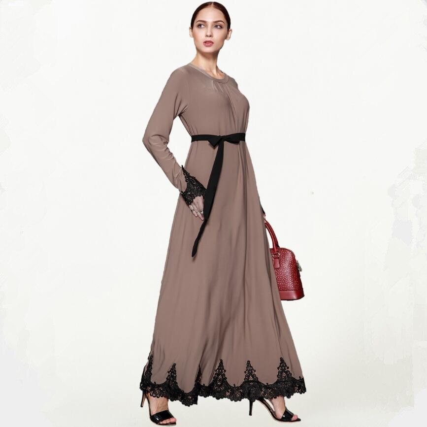 Islamic long sleeved embroidery Muslim Middle Eastern dress Dubai dress Turkish dress a650