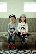 Envío de La Venta Caliente de Moda Otoño Primavera Niñas Y Los Niños de la Historieta T-shirt de Algodón Ropa de Los Niños