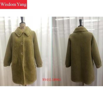 Elegant Beige Green Womens Wool Coats Trench Winter Warm Female Long Woolen Thickness Overcoat Korean Red Coat Ladies Outerwear