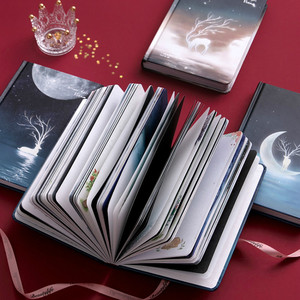 Image 2 - Cute Color Pages Diary Agenda Graffiti A5 Starry Night Notebook Sketchbook Watercolor Drawing School Diary Korea Stationery
