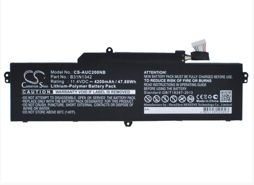 キャメロンシノ 4200 バッテリー asus C200MA-DS01-KX003 Chromebook C200 C200M C200MA B31N1342 (3ICP7/60/ 82)