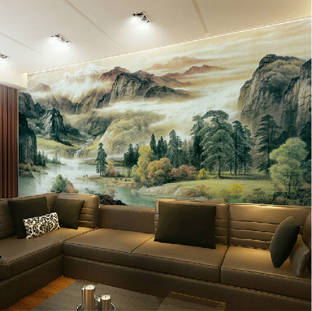 High Quality The spectacular landscapes Mural Wallpaper full Wall     High Quality The spectacular landscapes Mural Wallpaper full Wall Murals  print decals Home Decor Photo wallpaper