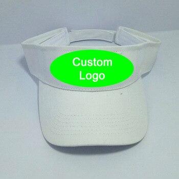 Customized logo cap fast shipping outdoor travel sun visor cap without crown football tennis baseball hat custom sun cap