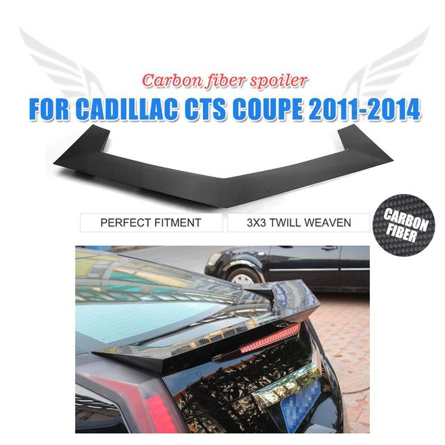 Carbon Fiber Rear Trunk Boot Spoiler Wing For Cadillac CTS