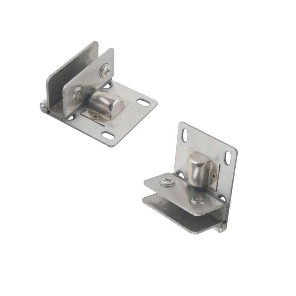 Online buy wholesale cabinet glass door hinge from china cabinet 2pcs cabinet glass door hinge pivot clip clamp stainless steel wall to glass shower hinge fit eventelaan Gallery