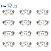 Personalized 925 Sterling Silver Infinity Ring Engraved Friendship Ring Sister Ring For Party Best Gift (JewelOra RI102142)
