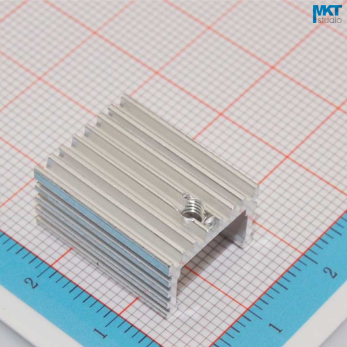100Pcs U-Type 15mmx10mmx20mm Pure Aluminum Cooling Fin Radiator Heat Sink