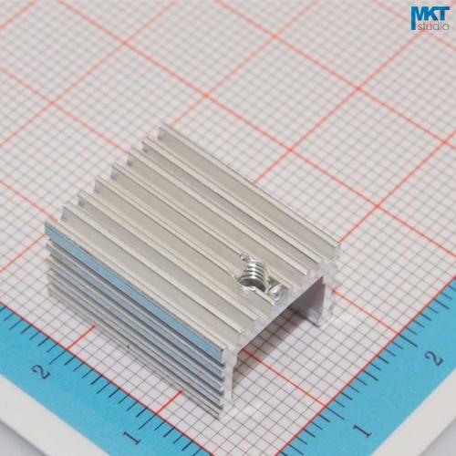 100Pcs U-Type 15mmx10mmx20mm Pure Aluminum Cooling Fin Radiator Heat Sink