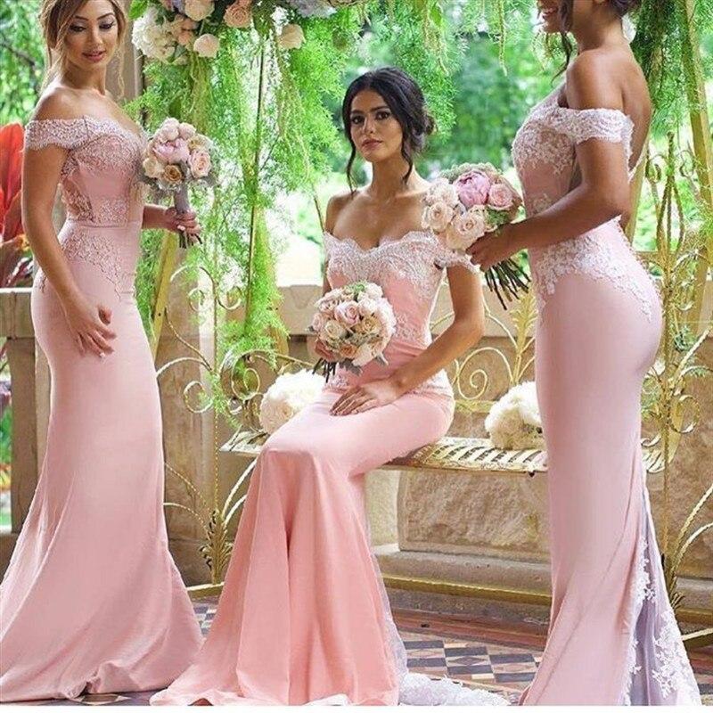 2017 High Quality Floor Length Mermaid Bridesmaid Dresses Pink New Arrival Pleat long party dress burgundy light pink Dress