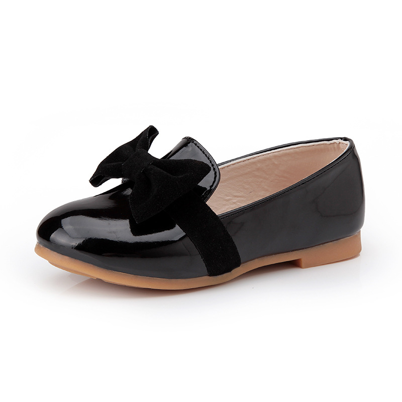 Lagabogy Spring Girls Leather Shoes Bowtie Sweet Princess Children Shoes Party Wedding Slip On Kids Casual Shoes For Girl TX49