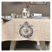 Household Supplies Cotton Linen Products Zakka Restoring Ancient Ways British Crown Cotton And Linen Table Cloth