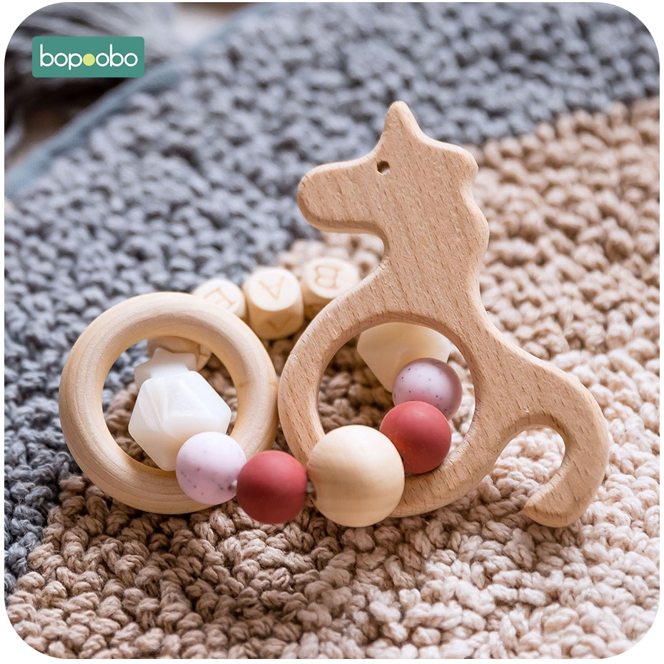 Bopoobo 1pc Silicone Baby Bed Hanging Rattles Toys Baby Rattles New Born Baby Toys Musical Soft Rattles For Kids Baby Teether