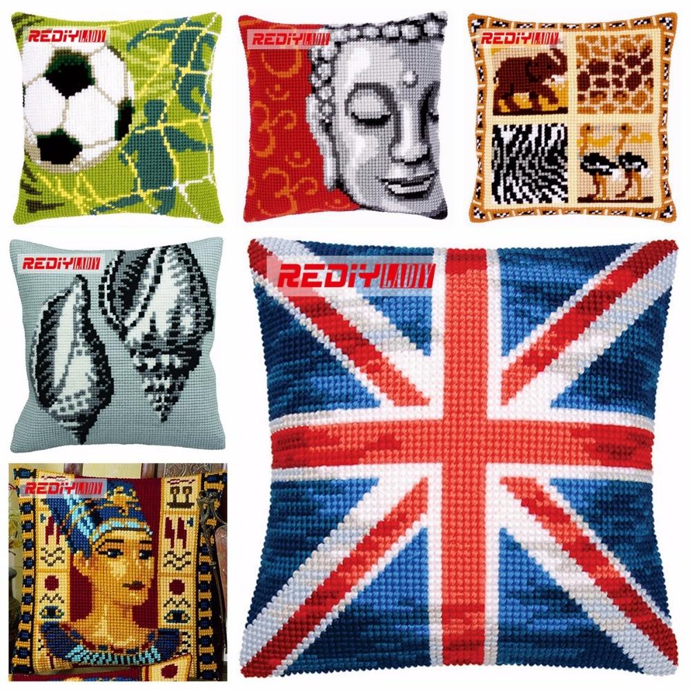 REDIY Cross Stitch Cushion Cover Pattern Decorative Pillow Case DMC Counted Cross-Stitch Set Cushions Home Decor Throw PillowsREDIY Cross Stitch Cushion Cover Pattern Decorative Pillow Case DMC Counted Cross-Stitch Set Cushions Home Decor Throw Pillows