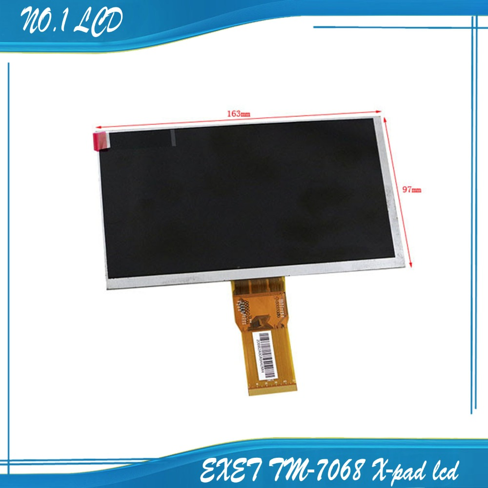 New 7'' inch LCD Display For TEXET TM-7068 X-pad iX 7 3G Tablet inner LCD screen Matrix panel Glass Replacement Free Shipping new lcd display matrix for 7 nexttab a3300 3g tablet inner lcd display 1024x600 screen panel frame free shipping