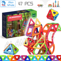 47pcs Forest Friends Set Standard Size Magnetic Model Building Blocks ABS Plastic Designer Enlighten 3D Brain