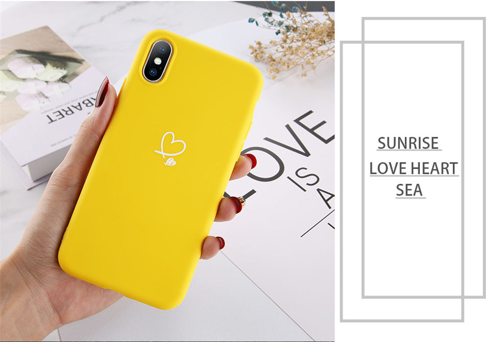 HTB1bLb2dWWs3KVjSZFxq6yWUXXaA - Lovebay Colorful Love Heart Case For iPhone 6 6S 7 8 Plus 11 Pro X XR XS Max 5 5s SE Candy Color Phone Case Soft TPU Back Cover