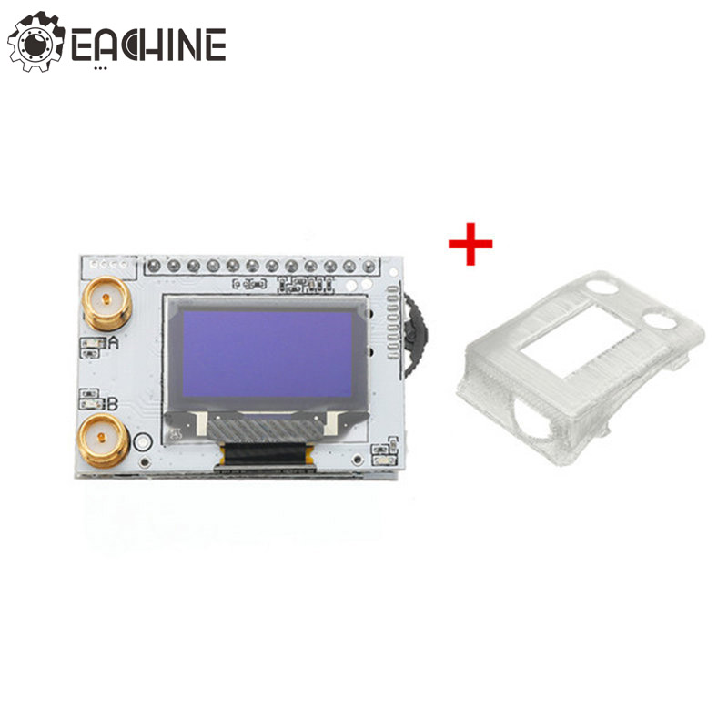 Eachine PRO58 RX Diversity 40CH 5.8G OLED SCAN FPV Receiver w/ Case Cover For Fatshark Dominator Goggels VS Realacc RX5808 PRO diy rx5808 5 8g 40ch diversity fpv receiver with oled display for fpv racer quad