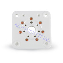 где купить 4pcs Ceramic Sliver Tube socket 6C33 FU29 829B 7Pin B7A Base Valve Amp Parts for Guitar дешево