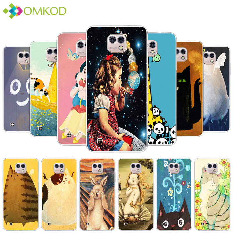 Fundas For LG X Cam K580 K580DS Silicone Cases Slim TPU Fashion Case 5.2 inch For LG X Cam K580 Phone Fat Animals Back Cover