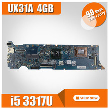 UX31A Motherboard REV4 1 2 0 i5 3317U 4G For ASUS UX31A2 UX31A Laptop motherboard UX31A