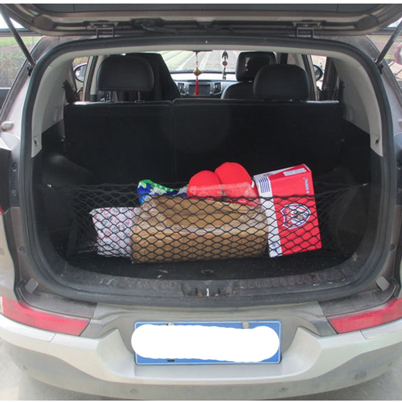 HOT New Car Nylon Elastic Mesh Net Car hatchback Rear Luggage Cargo Trunk Storage Organizer 13