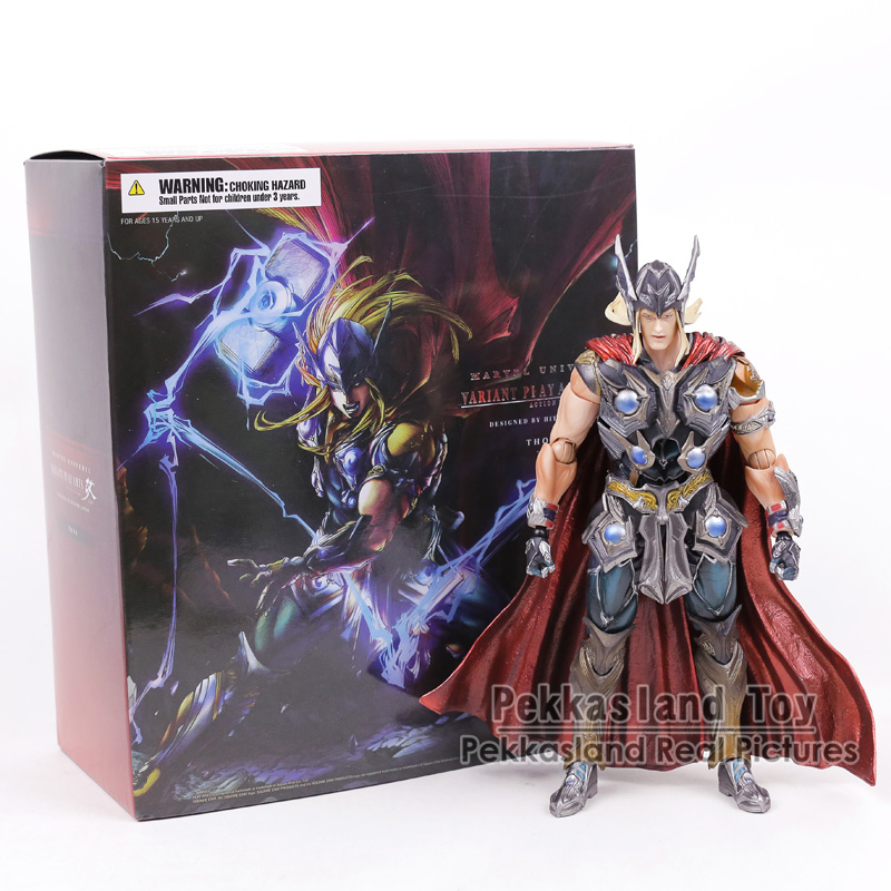 Play Arts KAI Marvel Thor Super Hero PVC Action Figure Collectible Model Toy 26CM metal gear solid v the phantom pain play arts flaming man action figure super hero