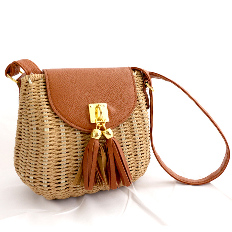 Women Durable Weave Straw Beach Handbags Tassel leather belt handmade Woven bag shell Tote female messenger bagWomen Durable Weave Straw Beach Handbags Tassel leather belt handmade Woven bag shell Tote female messenger bag