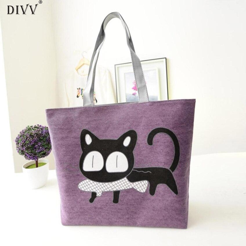 DIVV Happy hoem Awesome New Trend American Apparel Canvas Shoulder Bag Messenger Shopping Bag