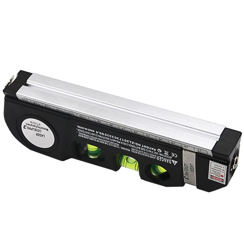 New hot 1Pc Multipurpose Level Laser Horizon Vertical Measure Tape Aligner Bubbles Ruler