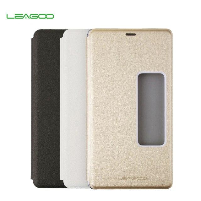 100% Оригинал LEAGOO Акула Акула 1 Classic Leather Case Откидная Крышка для LEAGOO1 Мобильный Телефон