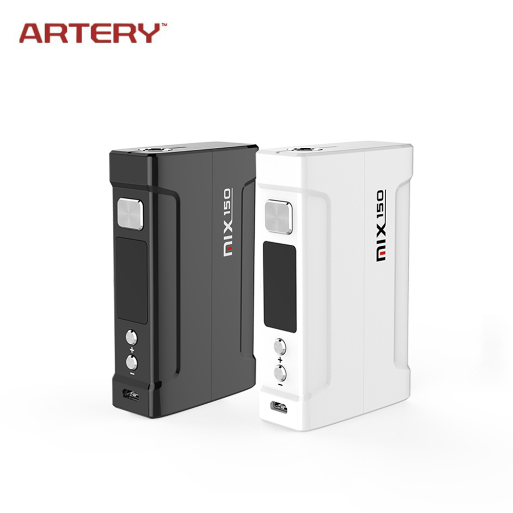 все цены на Original ARTERY Mix 150W TC Mod 510 Thread Box Metal Electronic Cigarette Temperature Control Mod 18650 Battery for RDA RTA Tank