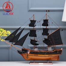 LUCKK DIY 75 CM Pirate Wooden Sailboat Ship Model Assembling Classics Home Decoration Accessorie Crafts Building Kits Toys