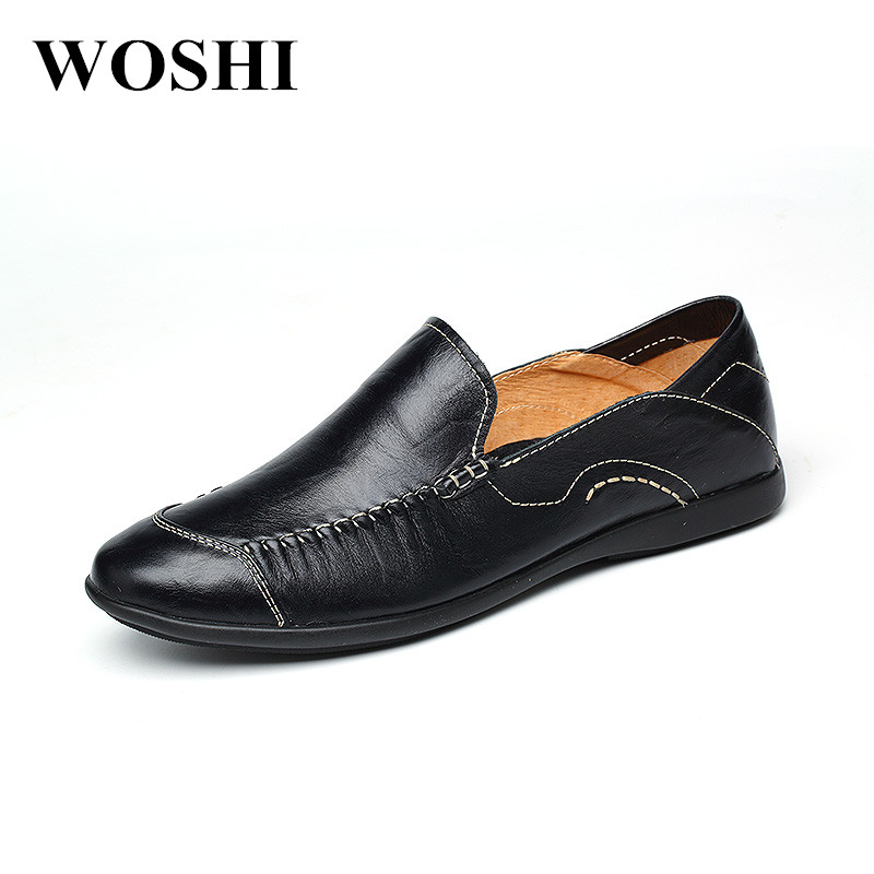 Men Shoes Summer Genuine Leather Men Loafers fashion Moccasins Slip On Men's Flats Breathable outdoor Male boat Driving Shoes p3 spring autumn fashion men flats breathable genuine leather moccasins slip on casual shoes male loafers boat shoes 1 9