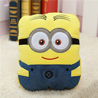 Yellow cartoon dolls pillow cushion for leaning on air conditioning blanket birthday present