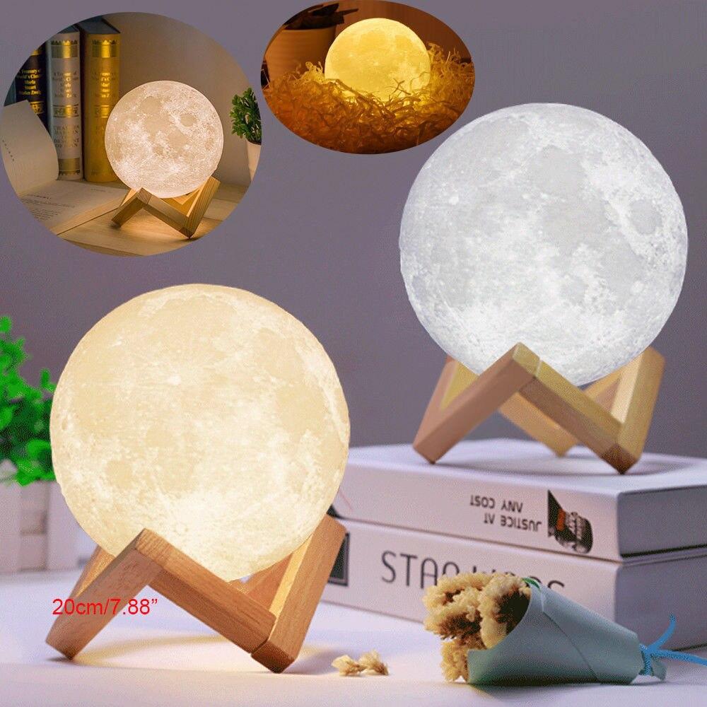 Rechargeable 3D Print Lamp Moon