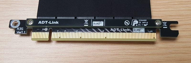 Rallonge PCIE 3.0x16 pour carte graphique 16 pci-e 16x câble plat flexible pour boîtier zhuifeng PK-217-E/XE