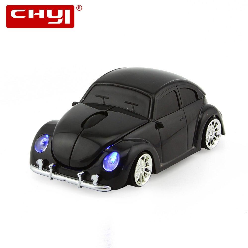 CHYI Wireless Mouse Freddo VW Beetle Auto Mouse 1600 DPI USB Ottico Mause Per Computer Portatile PC Dell'automobile Regalo