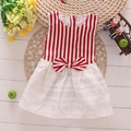 Free shipping 2016 summer Korean baby striped dress  sweet all-match princess  baby girls dress A137