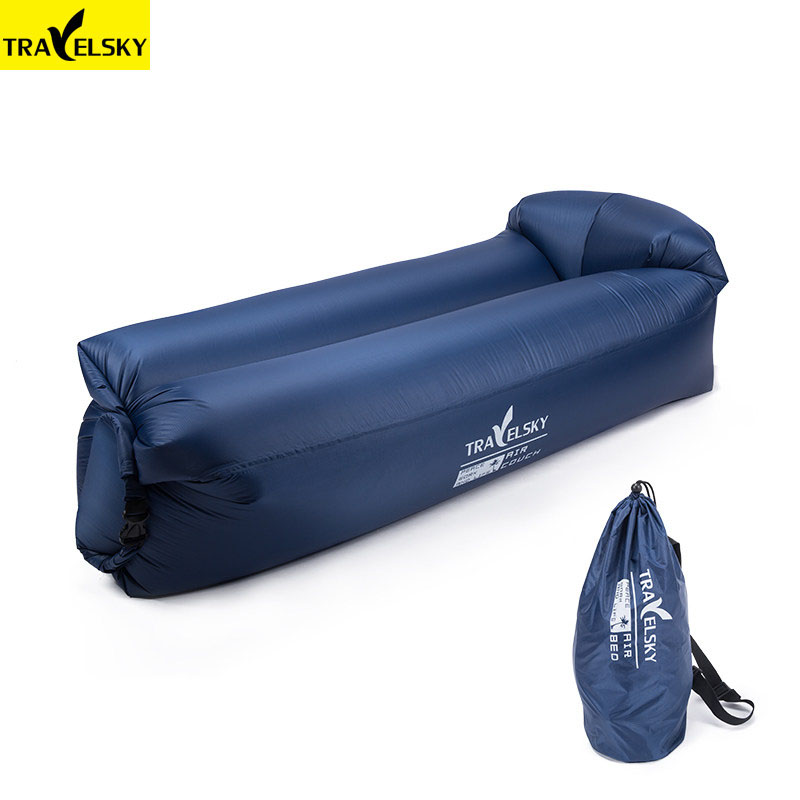 16495 Travelsky Fast Inflatable Waterproof Lazy Beach Sofa Air Outdoor sleeping bag Inflatable lounger chair