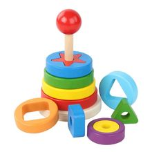 2019 New Rainbow Stacker Shape Pairing Color Perception Classic Toy Baby Toys Kid Gift