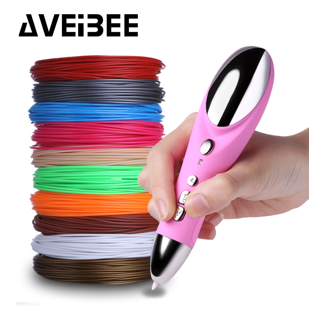 3D pen set with 1.75mm ABS filament 3 d printing creative drawing magic marker pens for kid Birthday gift design art supplies new arrival 3d printing pen with 100m 10 color or 200 meter 20 color plastic pla filaments 3 d printer drawing pens for kid gift