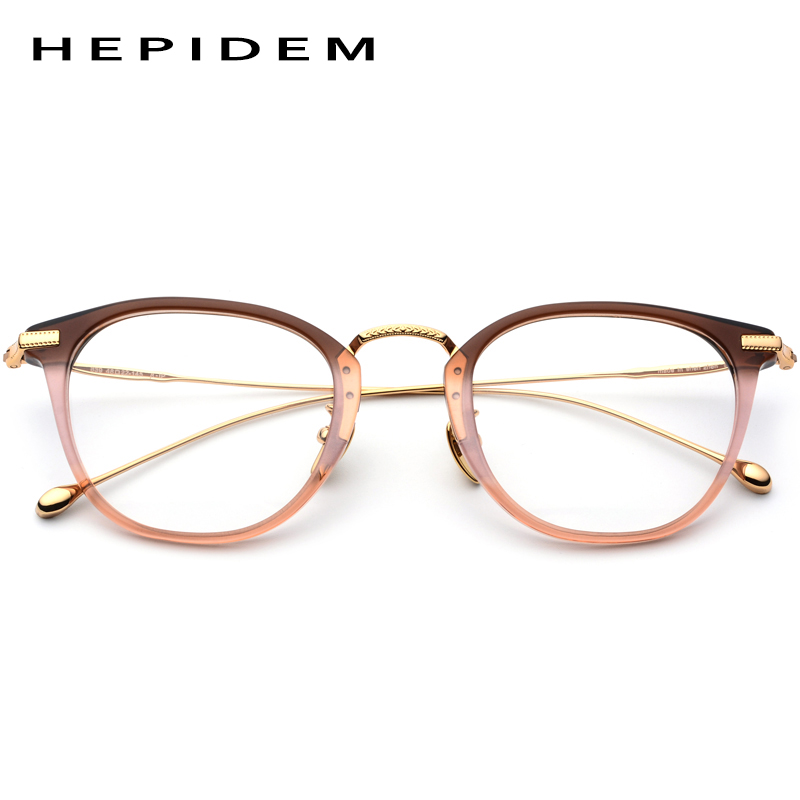 HEPIDEM B Titanium Optical Glasses Frame Men Vintage Square Prescription Eyeglasses Women Retro Round Myopia Spectacles