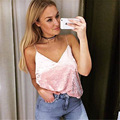 2017 Summer pink fashion Women Camisole Sleeveless Vest Casual 2 colors